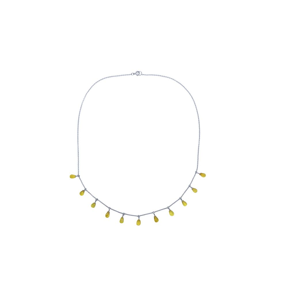 Yellow Sapphire Necklace by JUPP