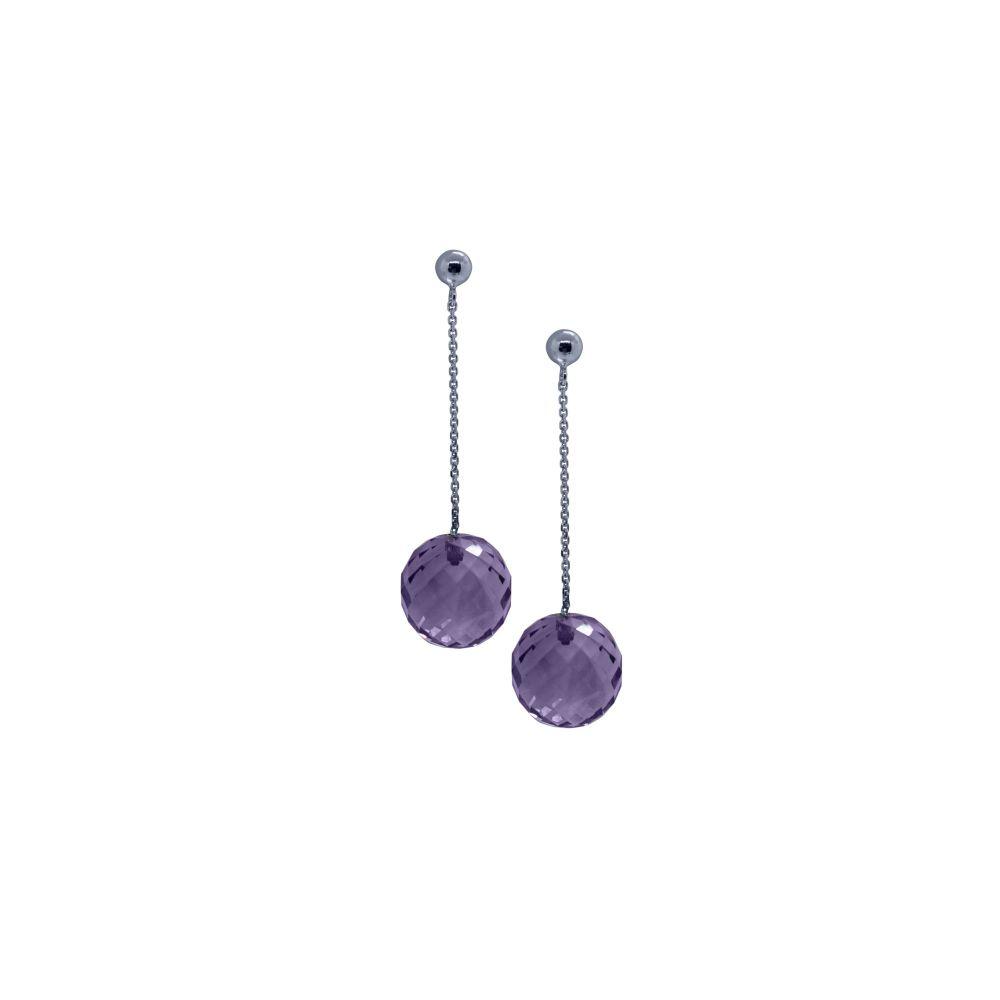 Amethyst Briolette Ball Earrings by JUPP