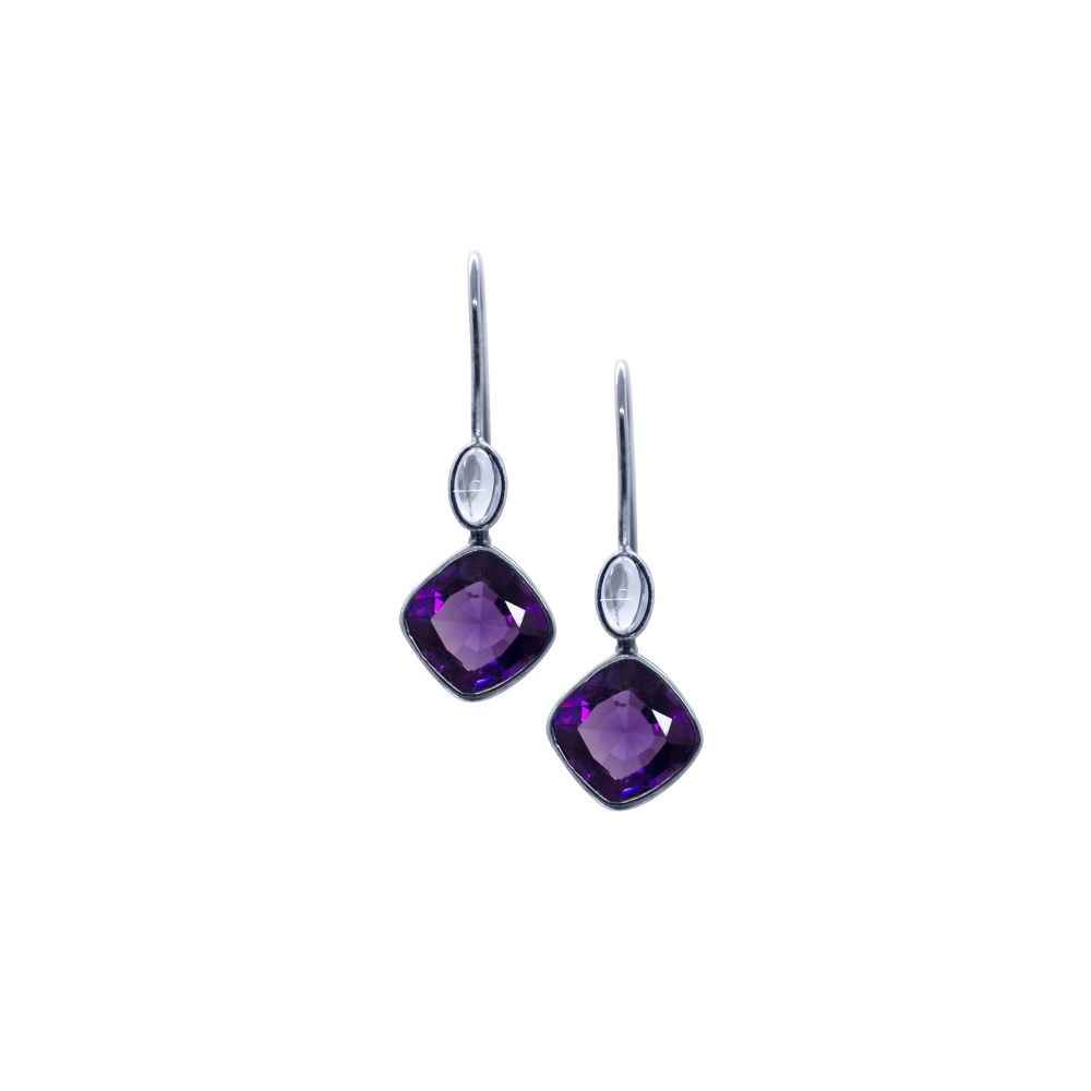 Amethyst & Moonstone Earrings by JUPP
