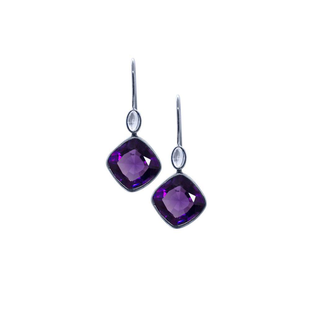 Amethyst & Moonstone Earrings by JUPP