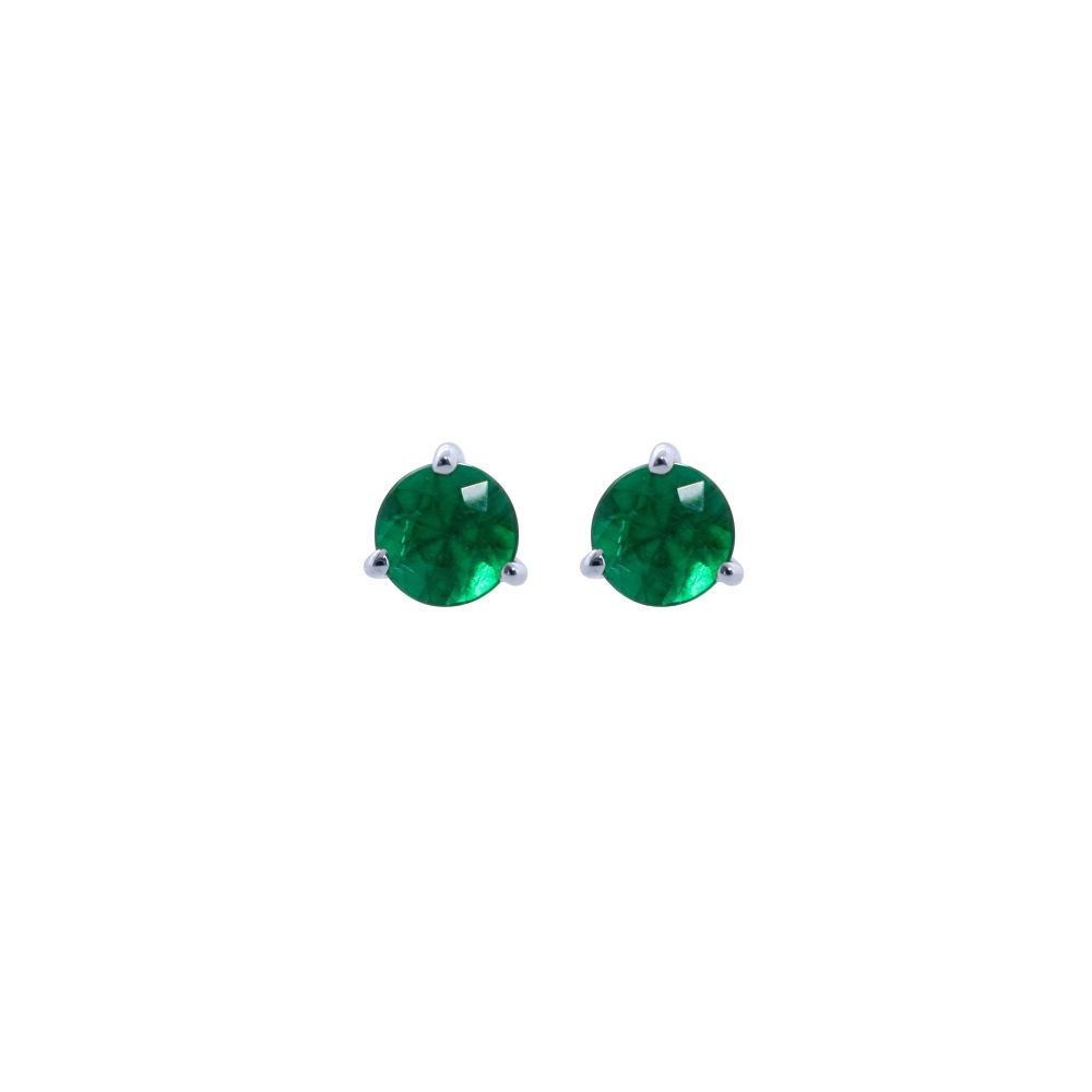 Emerald Ear Studs by JUPP