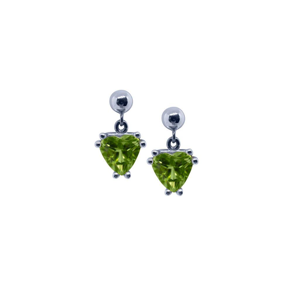 Peridot Drop Earrings by JUPP