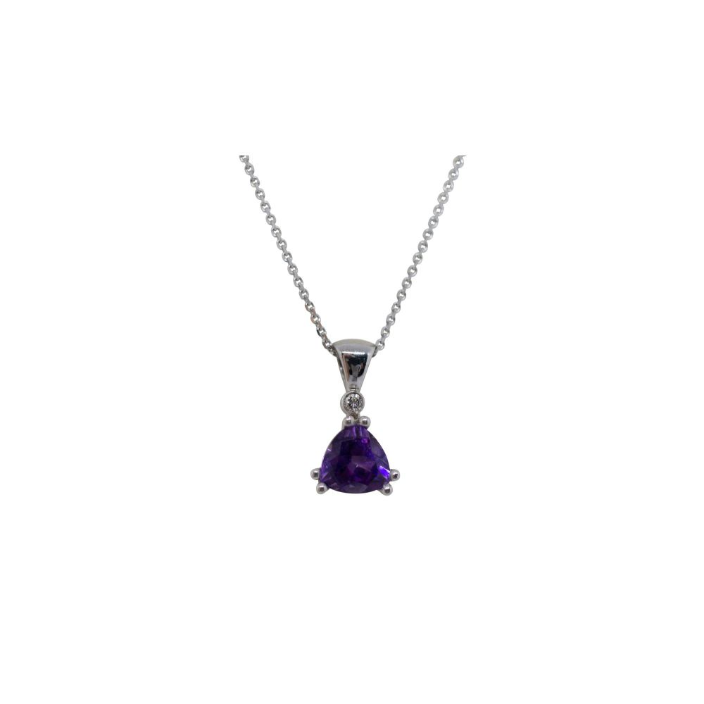 Amethyst & Diamond Pendant by JUPP