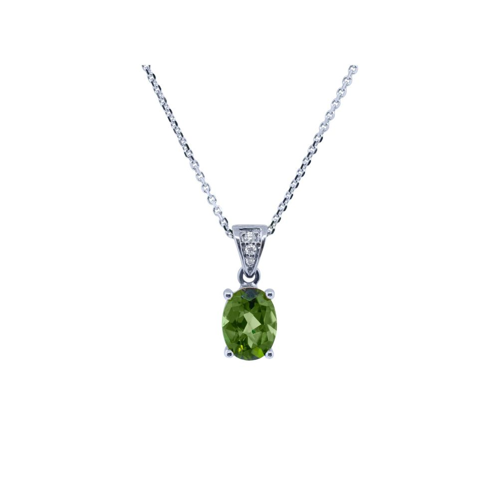 Tourmaline & Diamond Pendant by JUPP