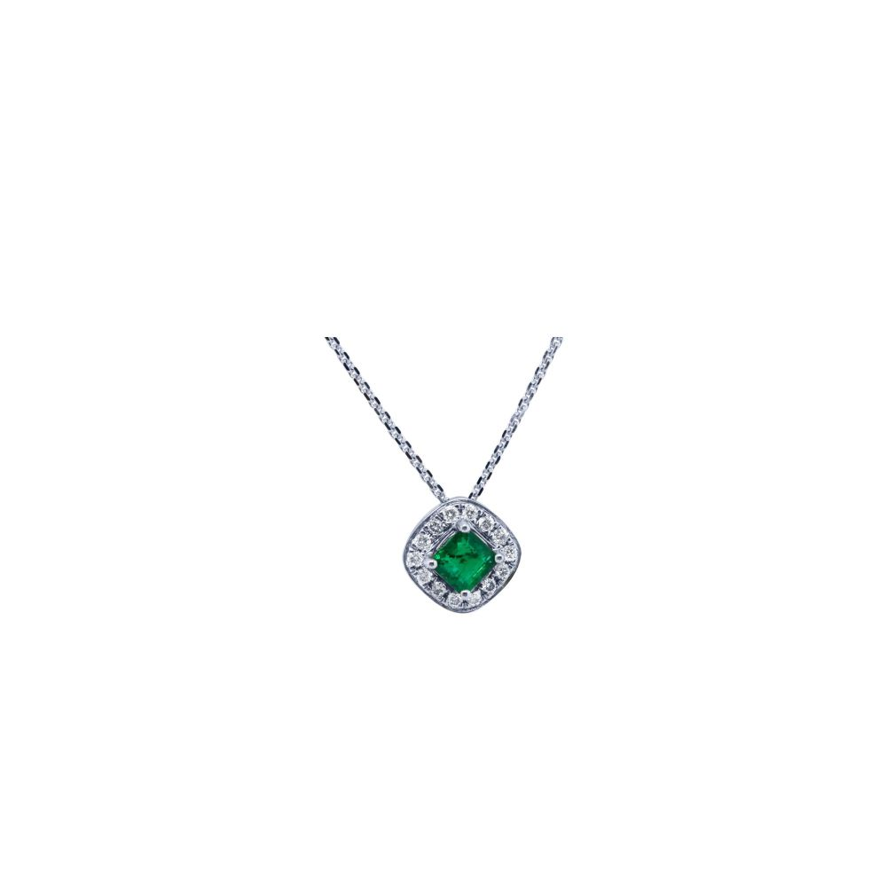 Emerald and Diamond Pendant by JUPP