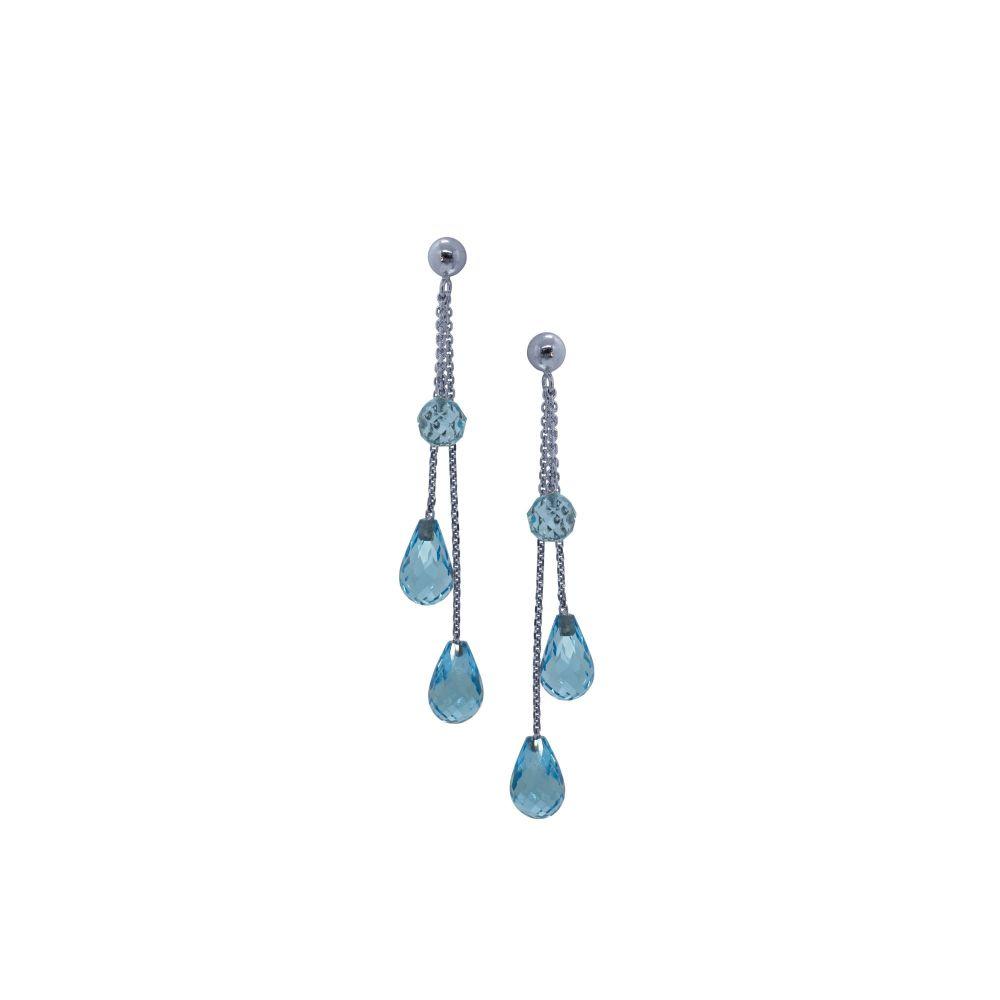 Blue Topaz Briolette Drop Earrings by JUPP