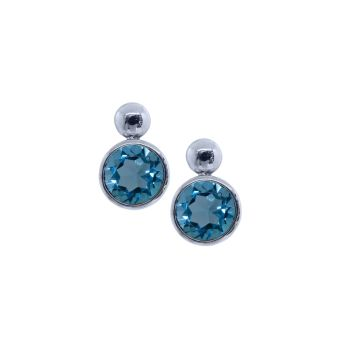 Blue Topaz Earrings by JUPP