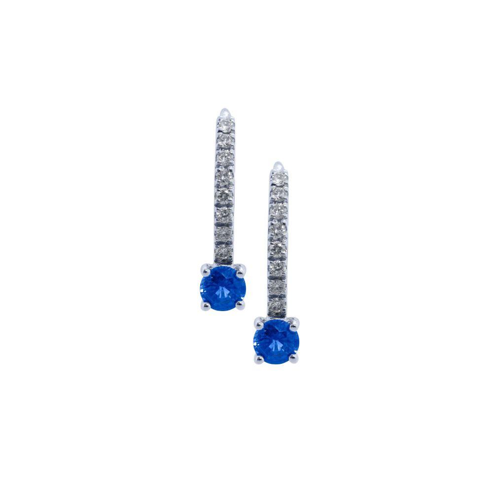 Sapphire & Diamond Drop Earrings  by JUPP