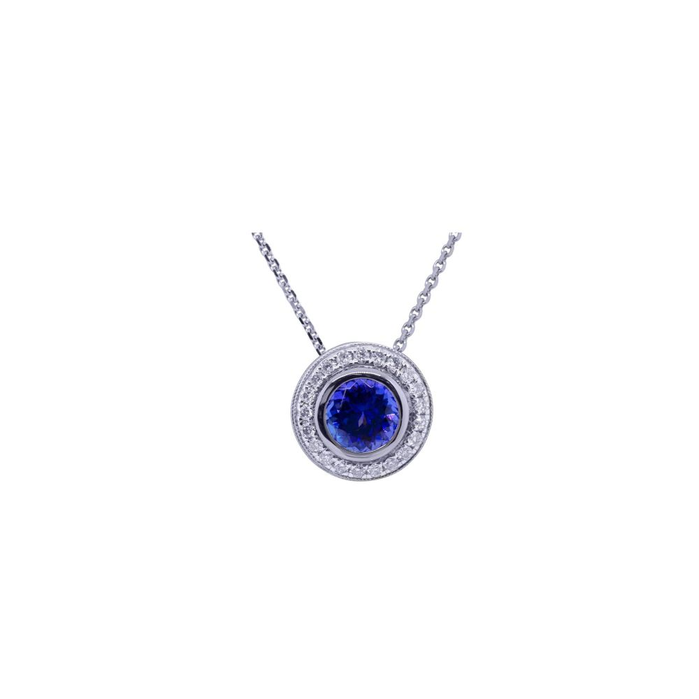 Tanzanite & Diamond Pendant by JUPP