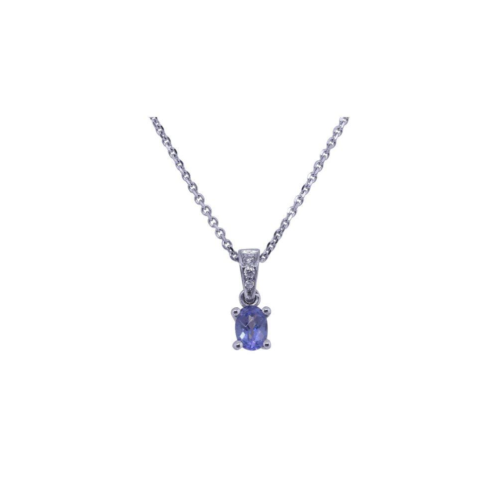 Tanzanite & Diamond Pendant by JUPP