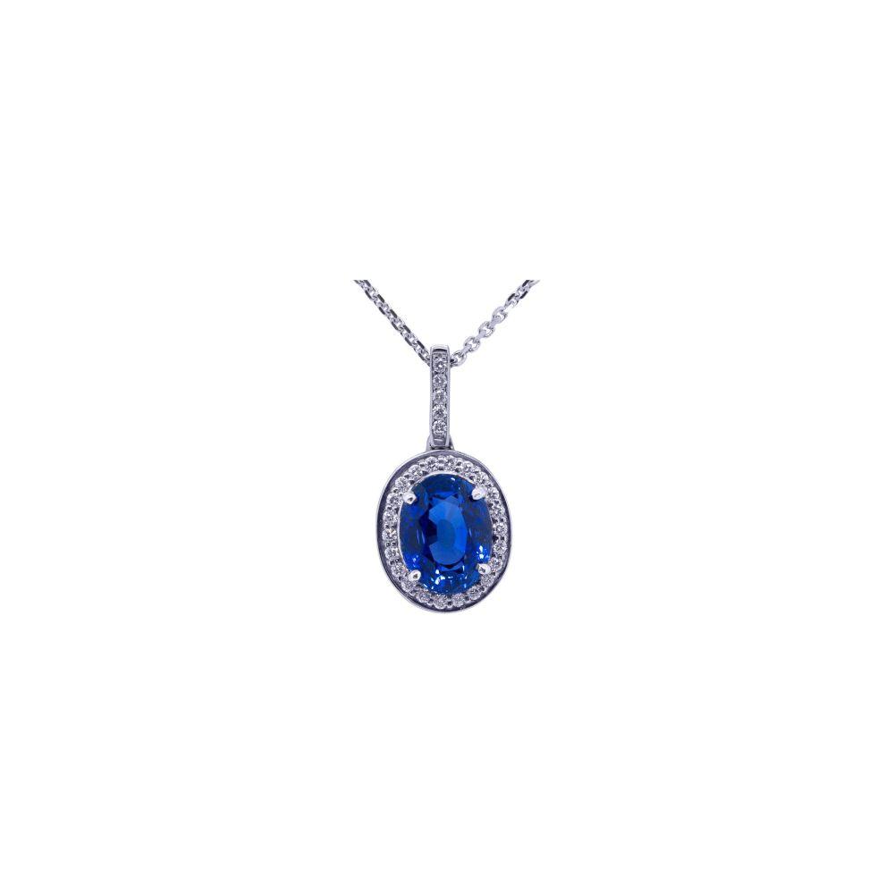 Sapphire & Diamond Pendant by JUPP