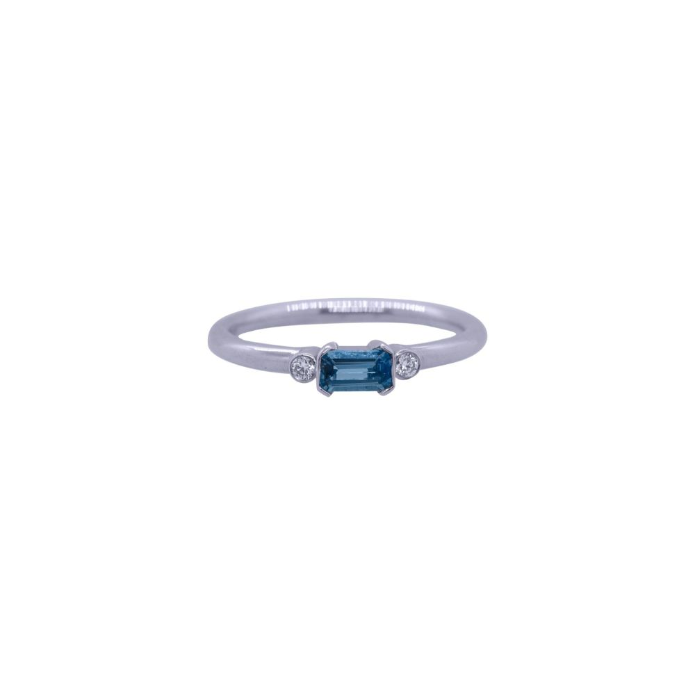 Aquamarine and Diamond Ring by JUPP