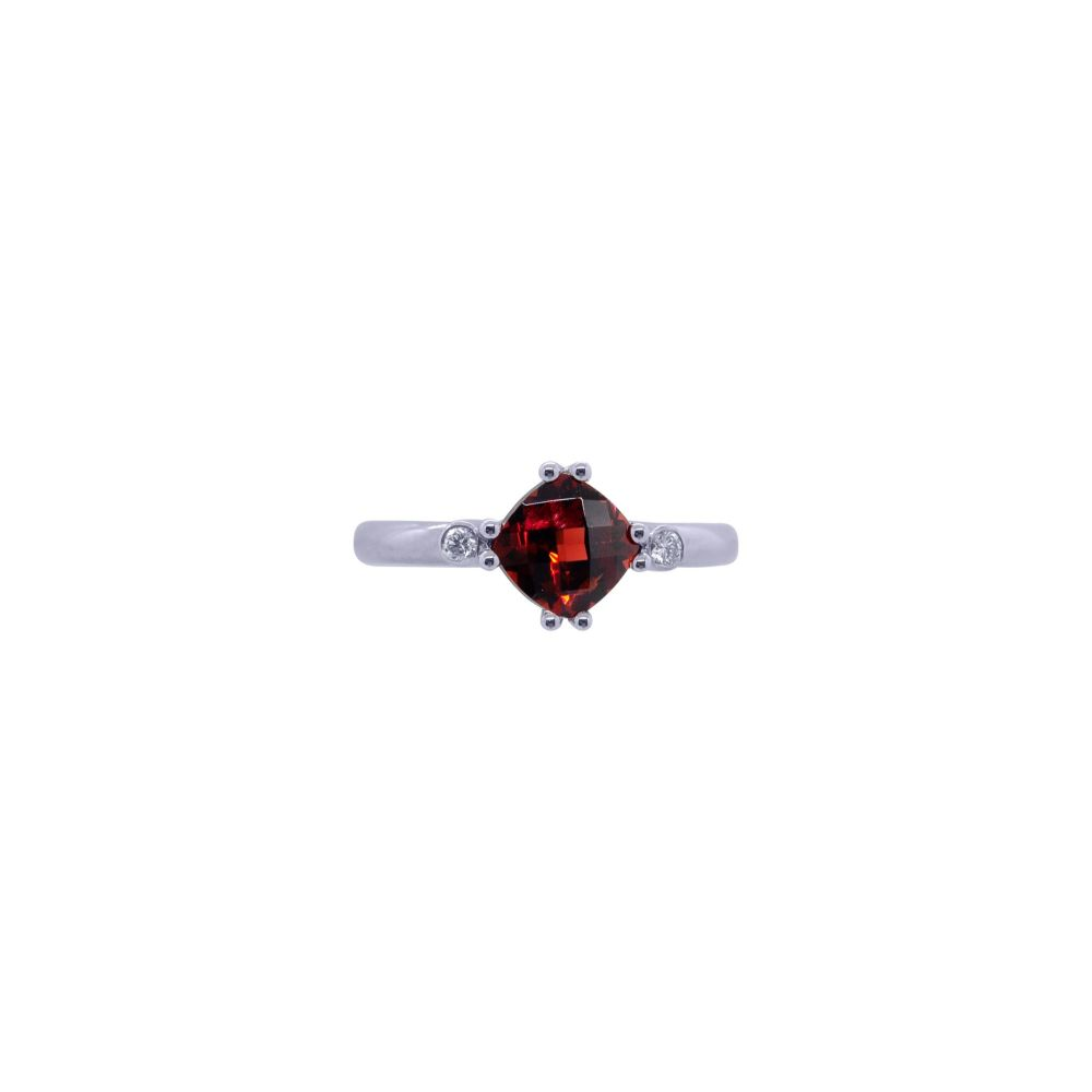Garnet and Diamond Ring by JUPP