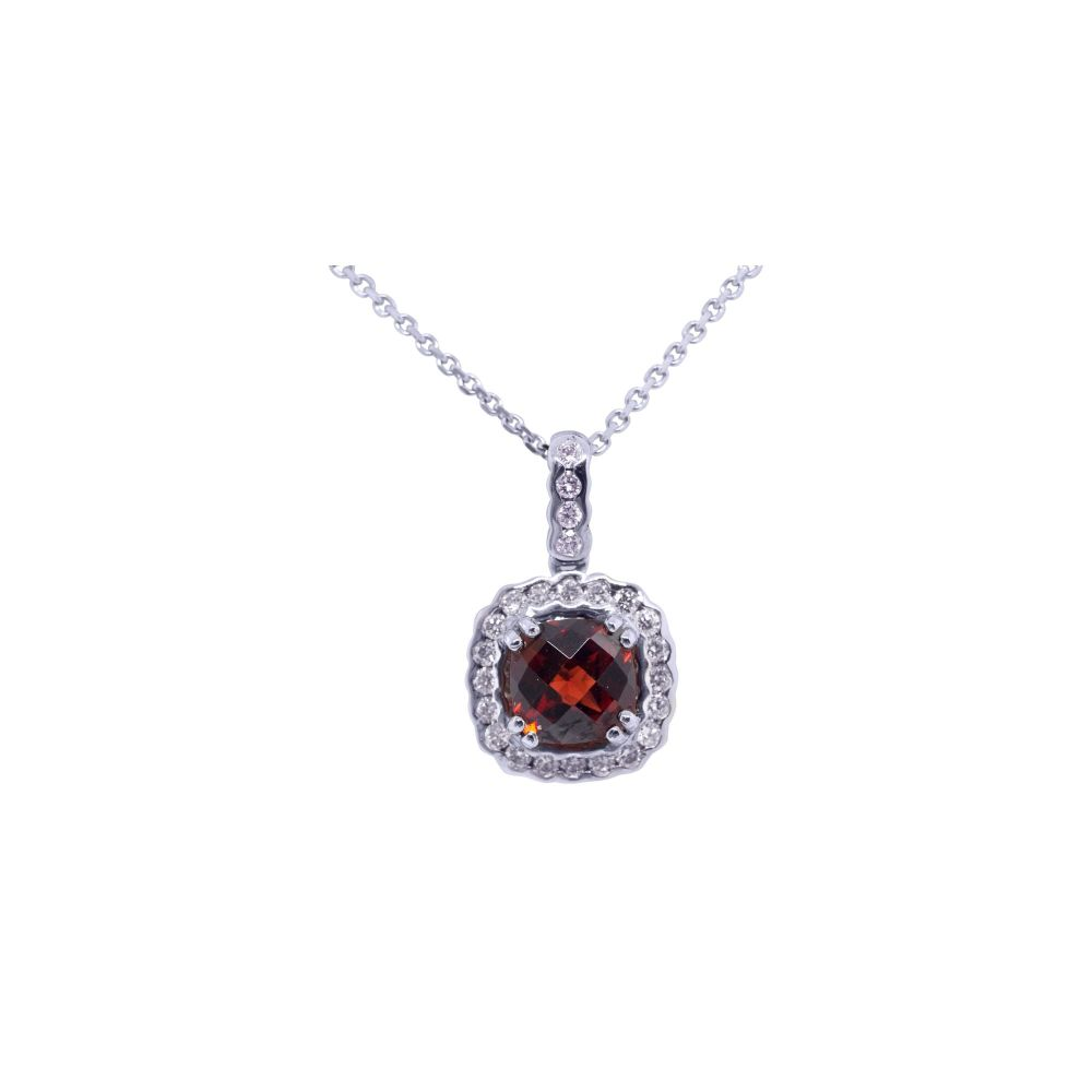 Garnet & Diamond Pendant by JUPP