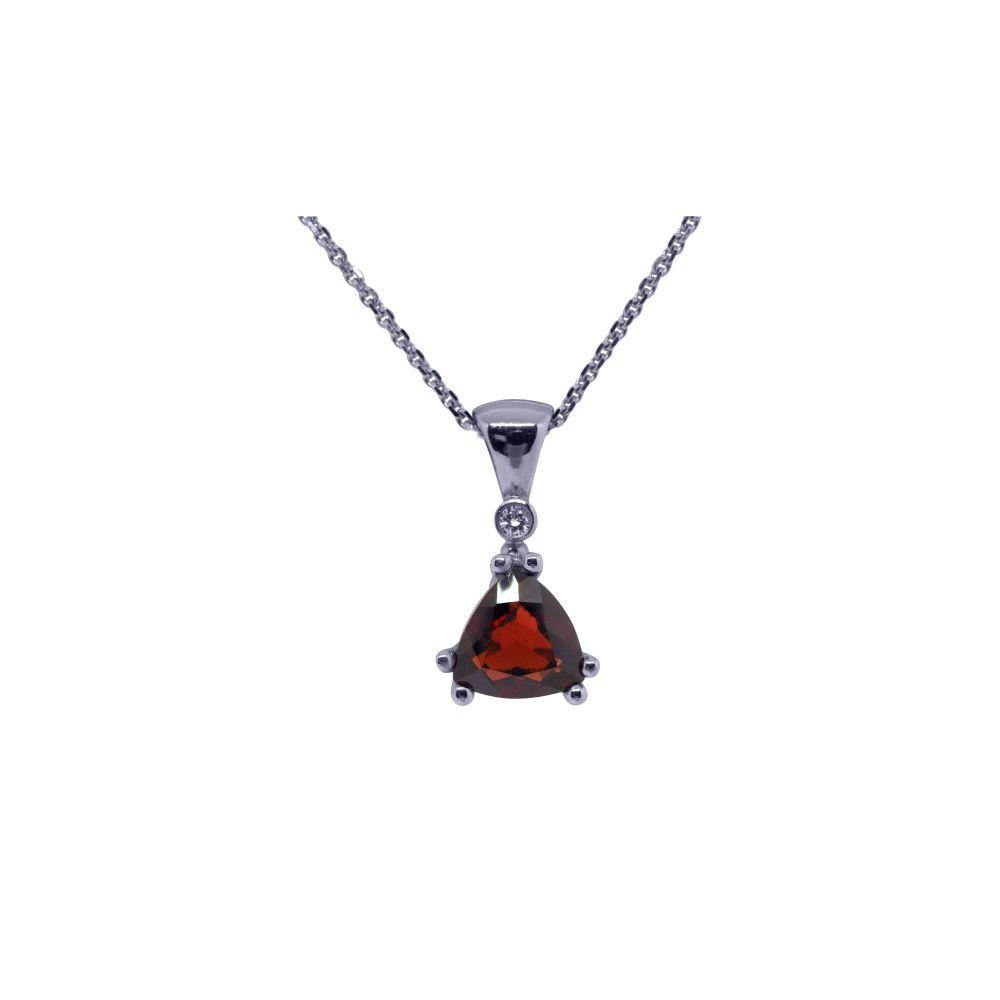 Garnet & Diamond Pendant by JUPP