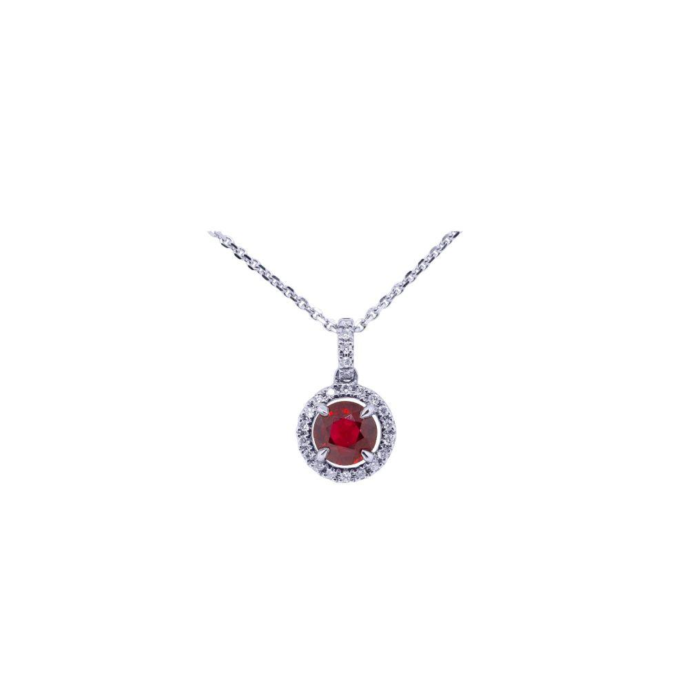 Ruby & Diamond Pendant by JUPP