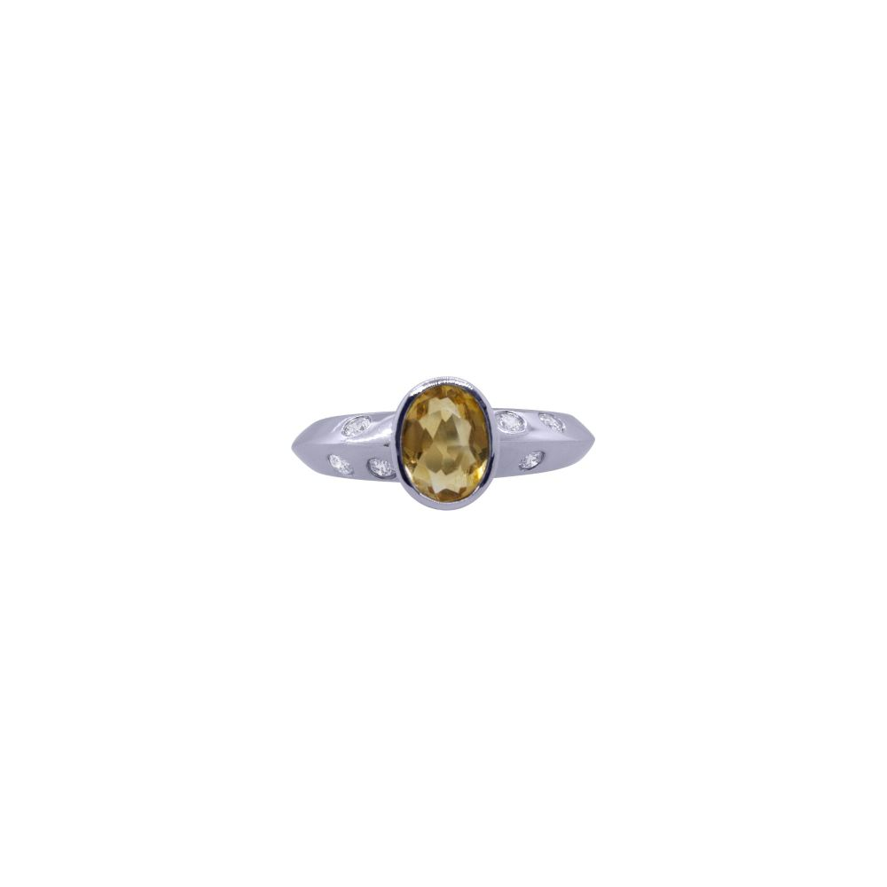 Citrine and Diamond Ring by JUPP