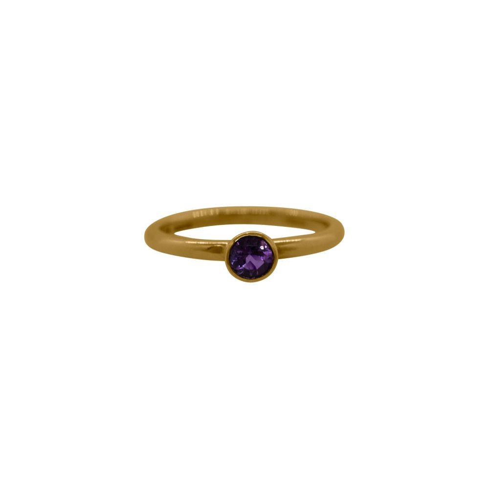 Amethyst Stacker Ring by JUPP
