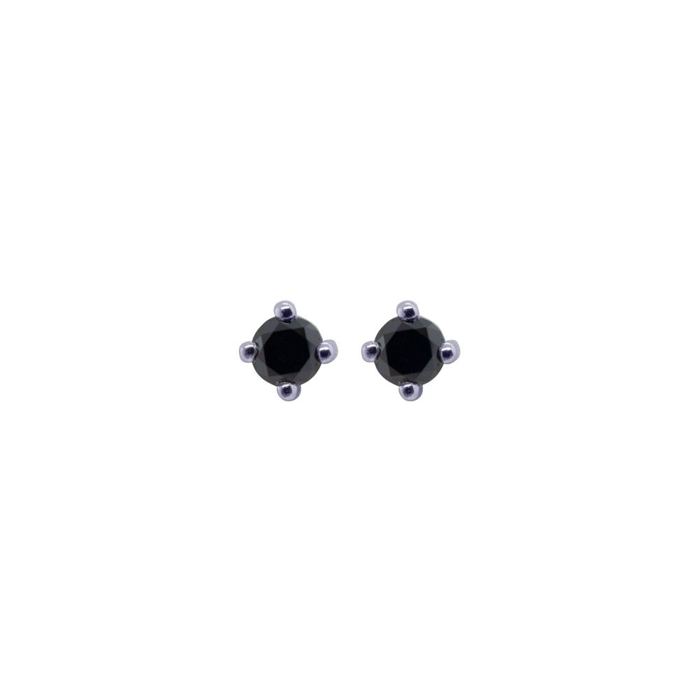 Black Diamond Ear Studs by JUPP