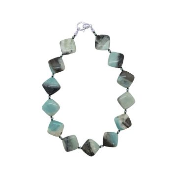 Amazonite & Black Spinel Necklace by Jupp