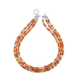 Faceted Carnelian Necklace by Jupp