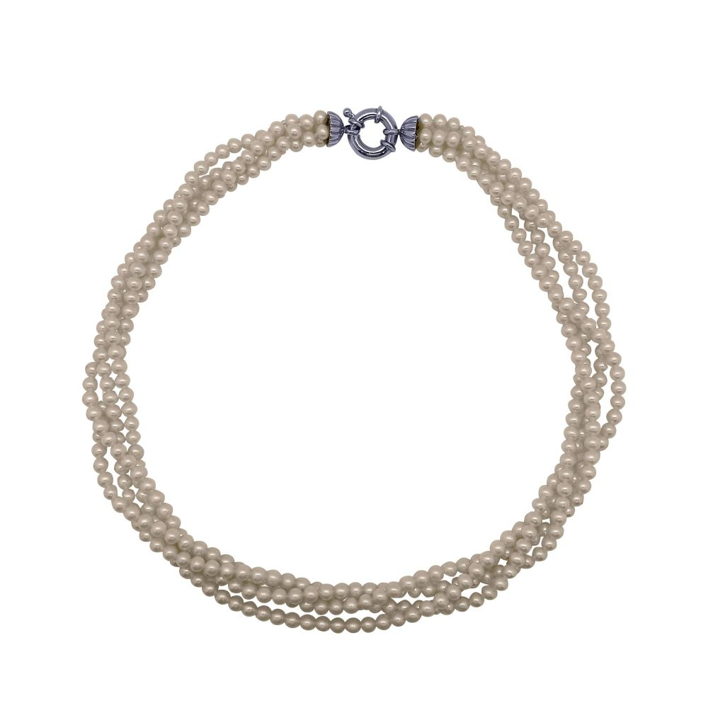 Four Row Pearl Necklace by Jupp