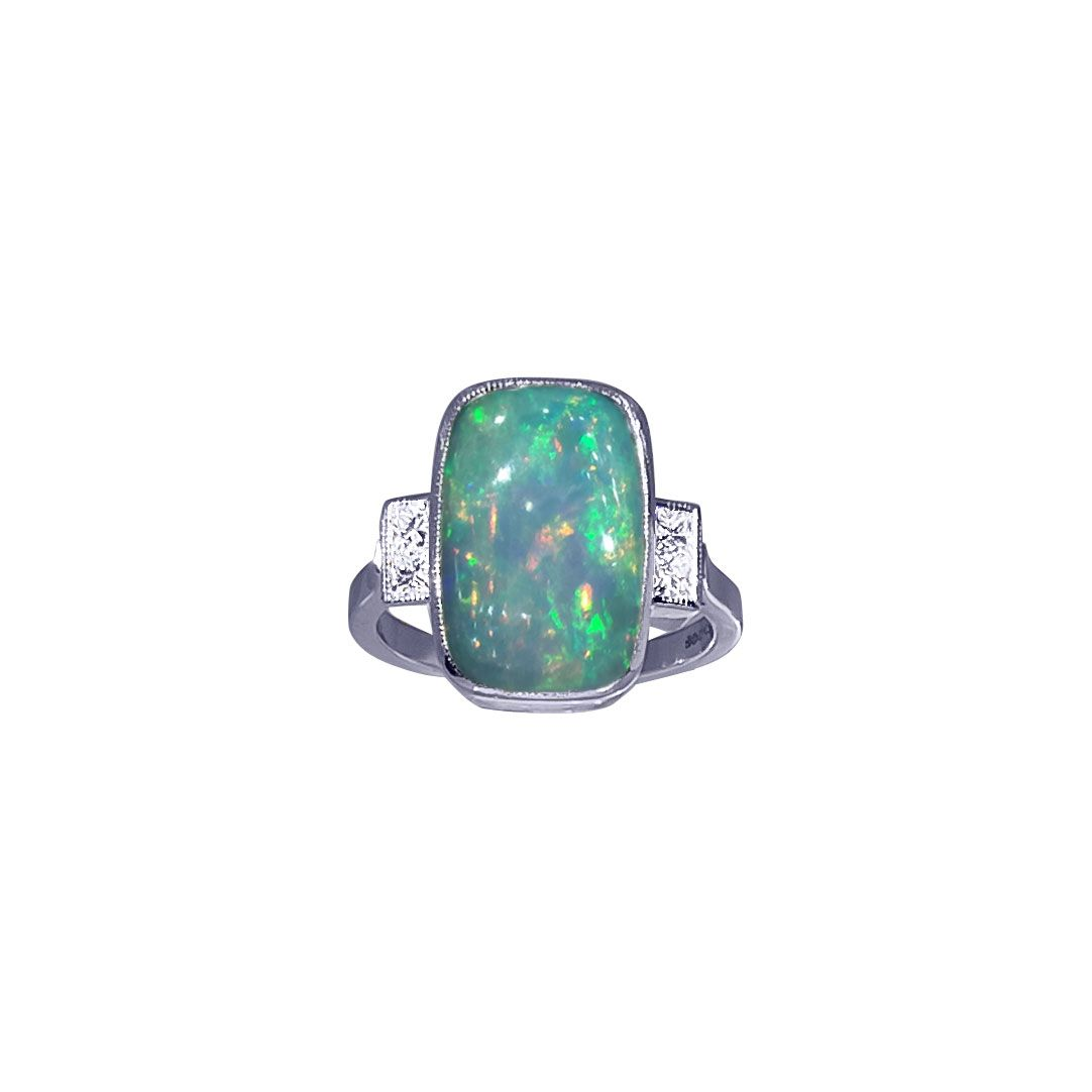 Opal and Diamond Ring by JUPP