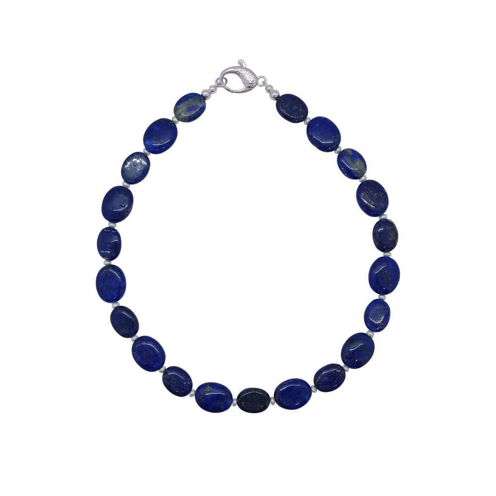 Lapis Lazuli & Pearl Necklace by Jupp