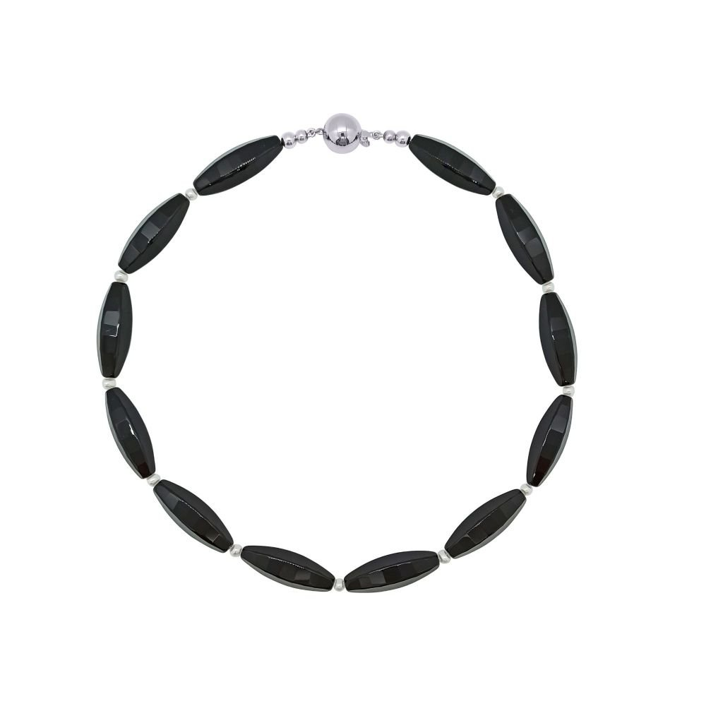 Black Onyx & Pearl Necklace by Jupp
