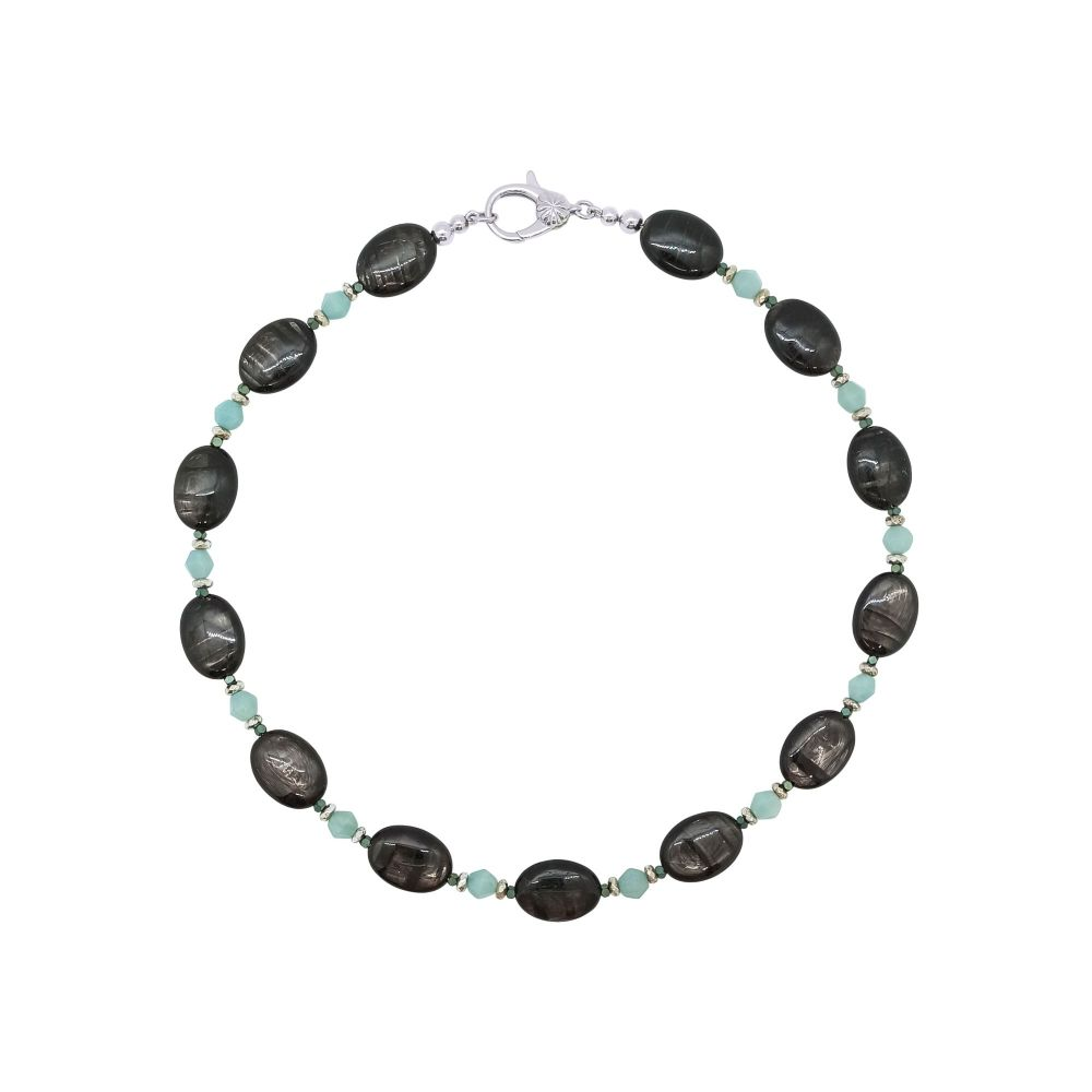 Hypersthene & Amazonite Necklace by Jupp