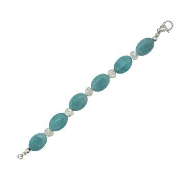 Amazonite & Keshi Pearl Bracelet by Jupp