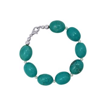 Turquoise & Pearl Bracelet by Jupp