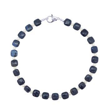 Dumortierite & Pearl  Necklace by Jupp