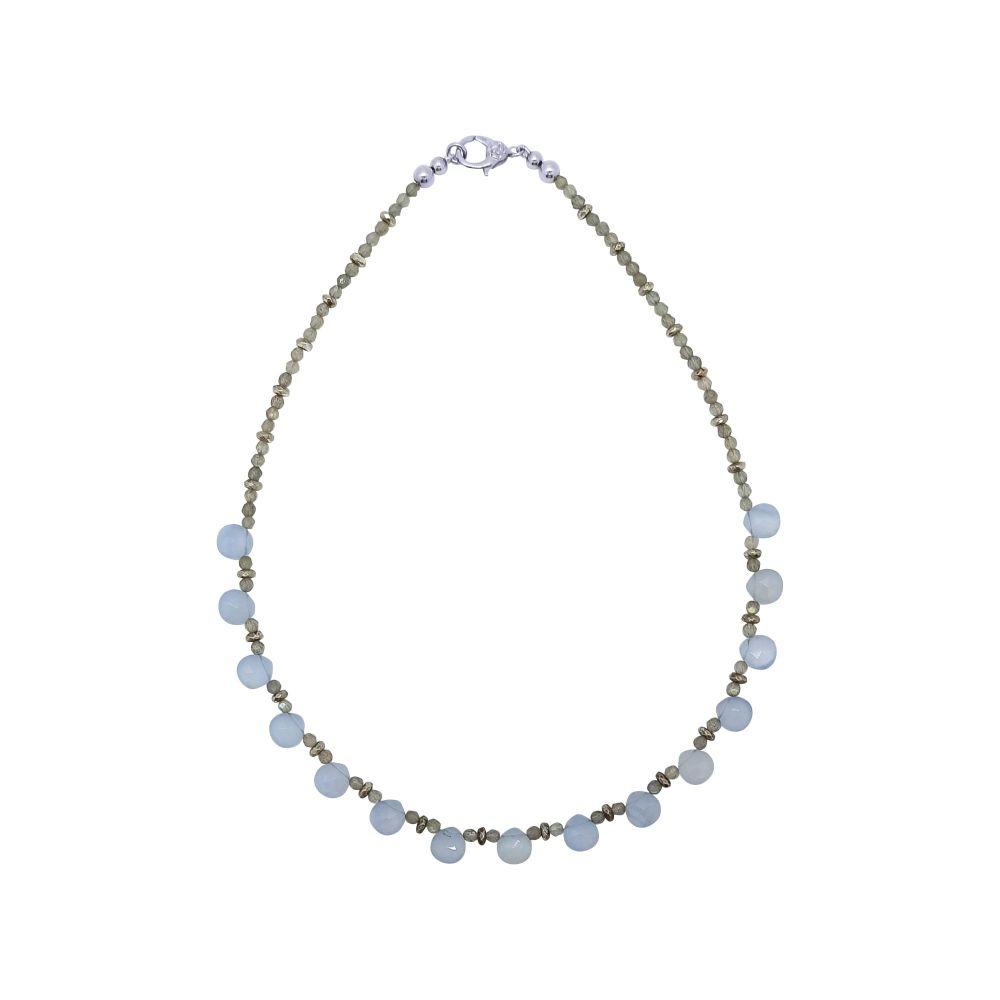 Blue Lace Agate & Labradorite Necklace by Jupp