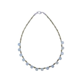 Blue Lace Agate & Labradorite Necklace by Jupp