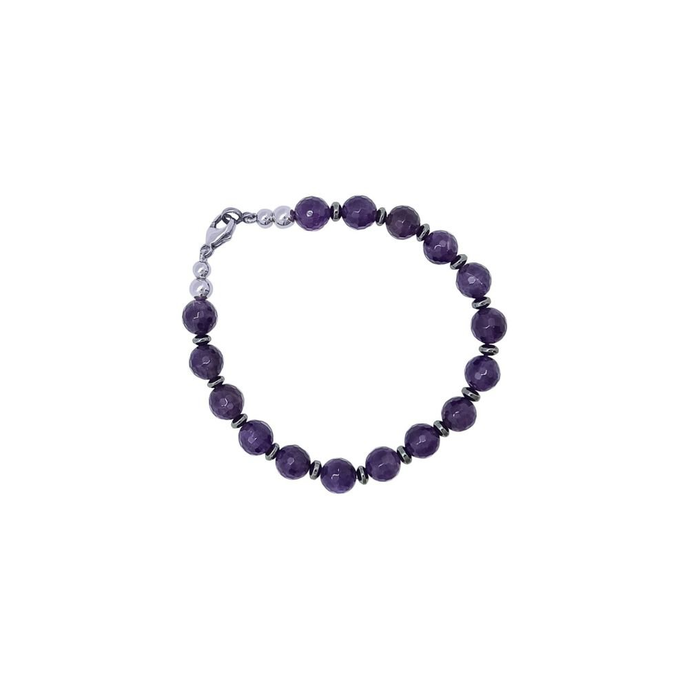 Amethyst & Hematite Bracelet by Jupp