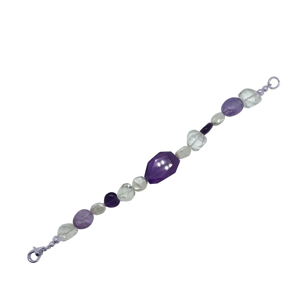 Amethyst, Quartz & Pearl Bracelet by Jupp