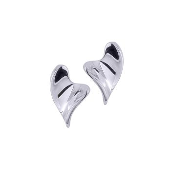 Sweeping Heart Ear Studs by JUPP