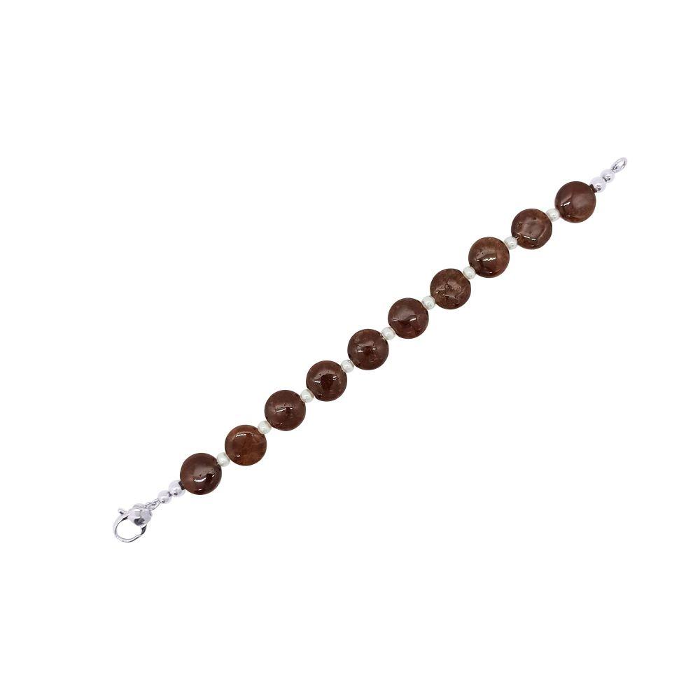 Hessonite Garnet & Pearl Bracelet by Jupp