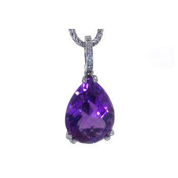Amethyst & Diamond Pendant by JUPP