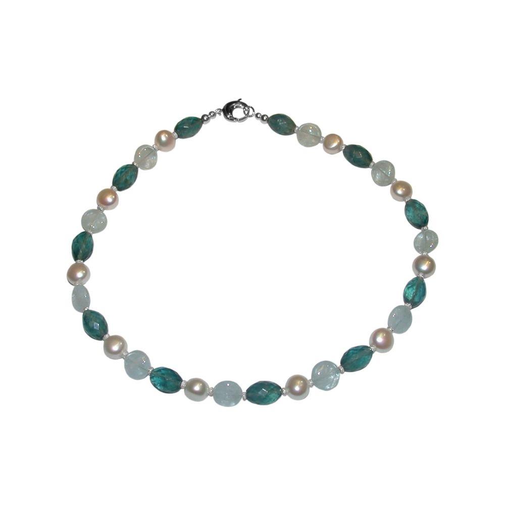Aquamarine & Fluorite Necklace by Jupp