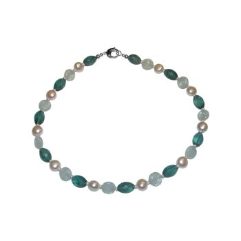 Aquamarine & Fluorite Necklace by Jupp