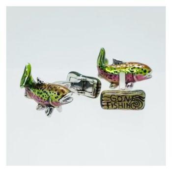 Rainbow Trout Fishing Cufflinks