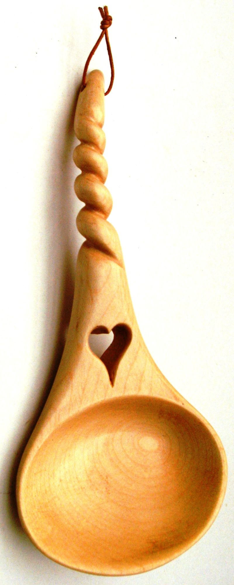 Twisted stem with small open heart and cawl shaped bowl