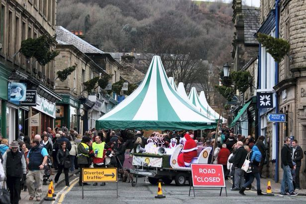 Photo of Ramsbottom Christmas Market in 2014 taken by Ramsbottom Business Group