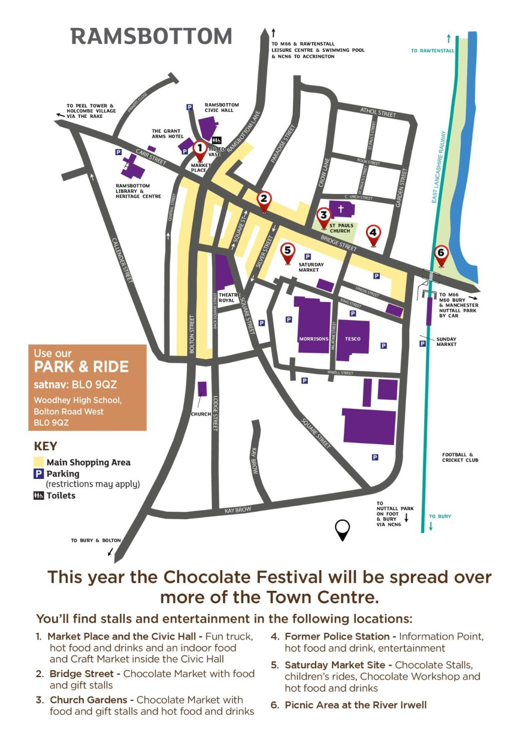 Map of Ramsbottom Chocolate Festival 2018 #chocfest18