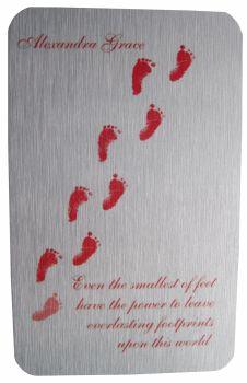 Baby Memorial Footprints Wallet Card
