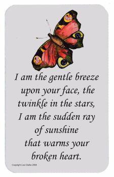 Baby Memorial Butterfly Poem Wallet Card