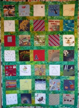 "Memory Quilt - finished size 48"" x 66"" approx (needs 35 small pieces of clothing)"