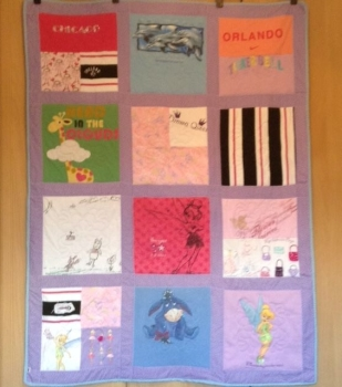 "Memory Quilt Example 48 x 63"" approx (requires 12 large pieces)"
